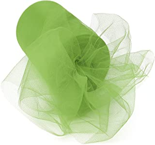OUTERDO Tulle Roll Spool Skirt Fabric for DIY Wedding Party Banquet Decor Festival Gift Craft 100 Yard 6 inch deep Green