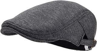FEICUI Men's Cotton Flat Cap Newsboy Ivy Cabbie Hat