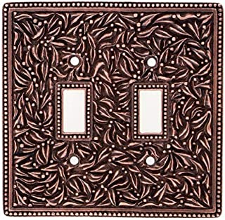 Vicenza Designs WPJ7006 San Michele Double Toggle Jumbo Wall Plate, Antique Copper