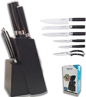Ensemble de couteaux CUPERINOX | couteau cuisine cuisine professionnels | 6 pièces | Une pièce de couteau en acier inoxyda...