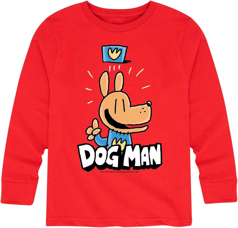 Dogman Has an Idea - Toddler and Youth Boys Long Sleeve T-Shirt