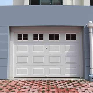 16 Packs 6 x 4 inches Garage Door Magnetic Panels, One Car Garage Door Decorative Faux Black Window Decals, Weatherproof Magnets Hardware Metal Garage Door Windows (1 Car Garage)