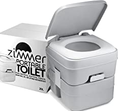 Portable Toilet Camping Porta Potty - 5 Gallon Waste Tank - Durable, Leak Proof, Flushable Easy to use RV Toilet With Detachable Tanks for Effortless Cleaning & Carrying, for Travel, Boating and Trips