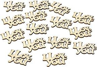 Tree-on-Life 15 Unids/Set Madera Te Amo Carta de Mesa Confeti Scatter Accesorios de Boda Carta Decoración de Boda Suministros de Boda