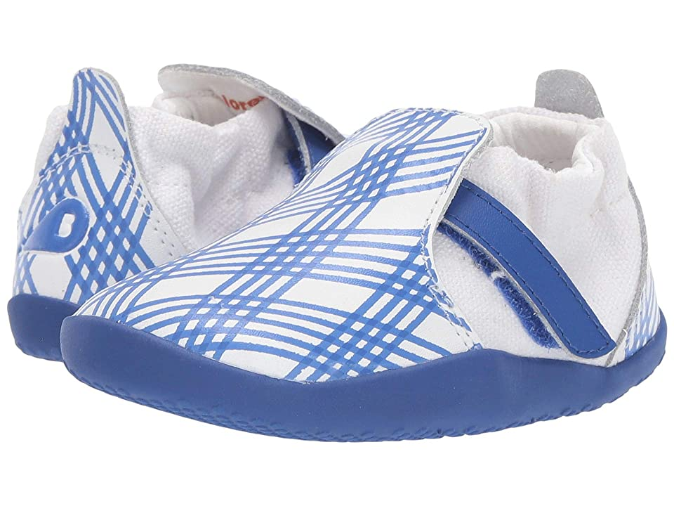 Bobux Kids Step Up Xplorer Aktiv Gingham (Infant/Toddler) (Sapphire/White) Kid