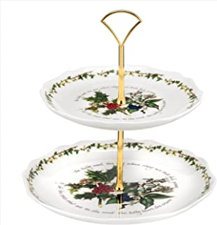 Portmeirion Holly & Ivy 2-tier Cake Stand