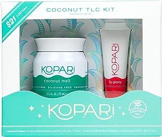 Kopari Coconut TLC Kit - Includes 2.5 oz Moisturizing Coconut Melt and .35 oz Hydrating Lip Glossy