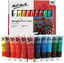Mont Marte Acrylic Paint 36ml 18pce - great for canvas wood fabric ceramic&crafts