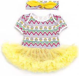 Fairy Baby Newborn Baby Girls Easter Egg Outfit Bodysuit Tutu Skirt Dress Set with Headband