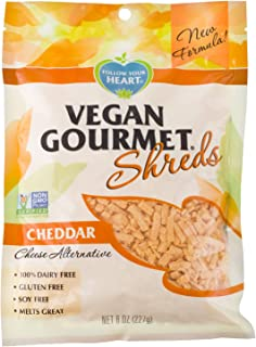 Follow Your Heart Dairy Free, Vegan, Soy Free, Non-GMO Shredded Style Cheese Alternative 8 ounces (Pack of 8) (Cheddar)