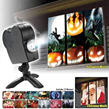 ZOOARTS 2019 Movies Displays Window Projector Wonderland Xmas Projection Light