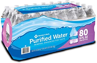 Member's Mark IUYEHDUH Purified Water, 80 Count, 2 Cases