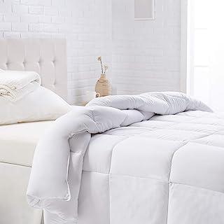 AmazonBasics Down Alternative Bed Comforter - Full / Queen, White, Warm