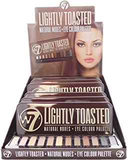 W7 Lightly Toasted Natural Nudes Eye Colour Palette Display Set, 6 Pieces plus Display Tester (並行輸入品)