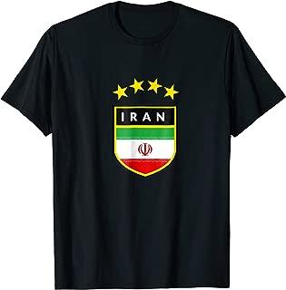 Iran T-shirt Coat of arms Tee Flag souvenir Gift Tehran