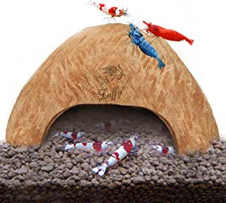 SunGrow Coco Hut for Aquatic Pets, Made of Raw Coconut, Smooth Edges and Comfortable Hide-Out, Perfect Breeding, Snag-Free Surface to Keep Fish, Snail and Other Pets Safe