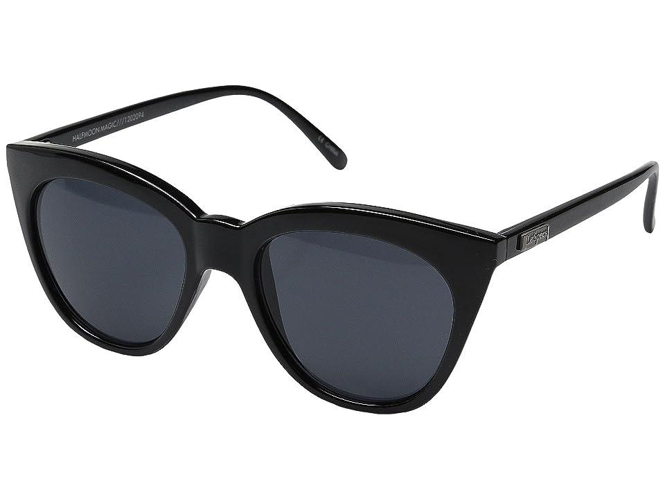 Le Specs Halfmoon Magic (Black) Fashion Sunglasses