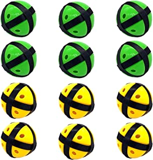 Silfrae Target Game Safety Fabric Dart Board Set with 2 Darts and 2 Balls for Boy and Girls (Green&Black x 6 + Yellow&Black x 12, Ball)