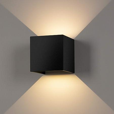 LEDMO Applique Murale Interieur/Exterieur 12W,Lampe Murale LED Etanche IP65 Réglable Lampe Up Down Design 3000K Blanc Chaud Appliques Murales pour Salon Chambre Chemin