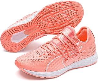 PUMA Women's Speed 300 Racer WN's Sneaker, Bright Peach-Peach Bud White