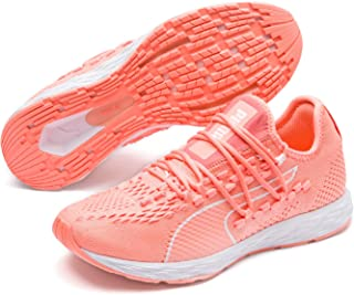 PUMA Women's Speed 300 Racer WN's Sneaker, Bright Peach-Peach Bud White