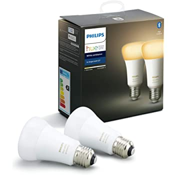 Philips Hue Pack de 2 Bombillas LED Inteligentes E27, con ...