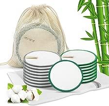 Lingette Bambou Velours pour Nettoyage D/émaquillage Visage avec Sac de Lavage Ulikey 16Pcs Tampons D/émaquillants Fibre de Bambou Bio Disques Coton Demaquillant Lavable R/éutilisables