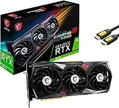MSI GeForce RTX 3070 OC Gaming Z Trio LHR Graphics Card 8GB GDDR6 256-Bit PCIe 4.0 Triple-Fan 3RD Gen Tensor Cores up to 2...