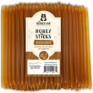 The Honey Jar - 100 Count Honey Sticks (Wildflower) Pure American Honey. No Corn Syrup. No Added Water. No Artificial Colo...