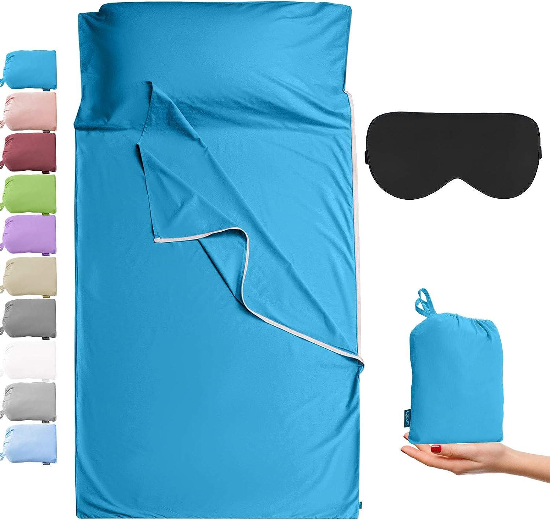 Cozysilk Sleeping Bag Memphis Mall Liner with Zipper Cotton - Sleep Pure Sack Sale price