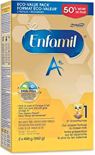 Enfamil A+, Baby Formula, Value Pack, Powder Refill, DHA (a type of Omega-3 fat) to help support brain development, Age 0-...