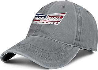 BSUTU Mens Women's Cowboy Hat Krispy-Kreme-Doughnuts-American-Flag- Washed Cotton Adjusted Sport Baseball Cap