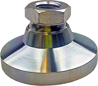 Metric Size 25mm Base Diameter Inc. M8 x 1.25 Thread Size J.W Winco 343.5-25-M8-OS Series 343.5 303 Stainless Steel Tapped Socket Type Leveling Mount without Cap