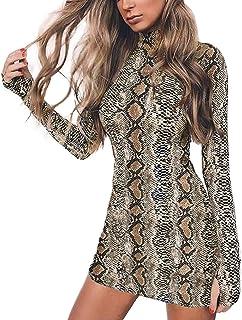 LYKSAW Queen.M Women's Sexy Bodycon Dress Knitting Casual Club Party Slim Short Mini Dress