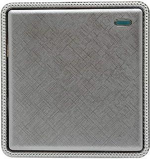 1/2/3 Gang Interruptores de luz de pared y enchufes con textura cromada gama tornillo menos