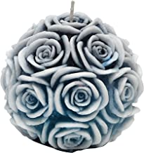 Touch Nature Multi Rose Round Candle. Scented. (Blue)