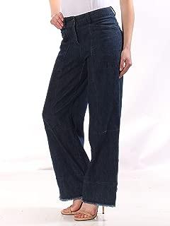 Max Studio London Womens Philomene Indigo Wash Mid-Rise Wide Leg Jeans