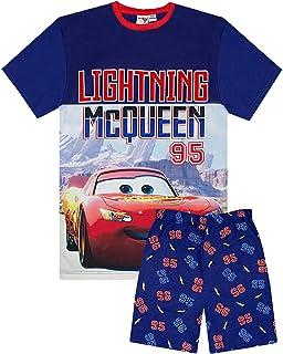 para ni/ños EP1106 Camiseta de Manga Corta Rayo Mcqueen de Cars de Disney Color Azul Oscuro