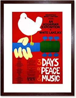 The Art Stop Music Festival Concert Woodstock NY Peace Dove Love Legend Framed F12X591