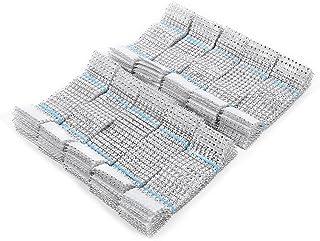 Fdit 8 Reihen Stuhl Schärpen Servietten Ring Diamant Verpackungs-Band für das Heirats-Weihnachtsheiße Strass Schmuck für Hochzeits Dinner Party(100pcs/pack-Silber)
