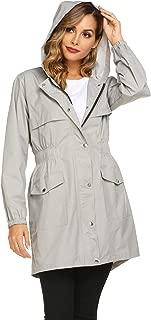 Womens Rain Jacket Lightweight Hooded Waterproof Active Outdoor Quick Dry Running Jacket