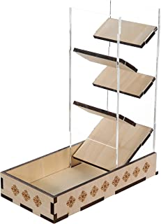 Dice Tower & Tray Box Perfect for Gamers and Dice Tabletop Games RPGs Board Games
