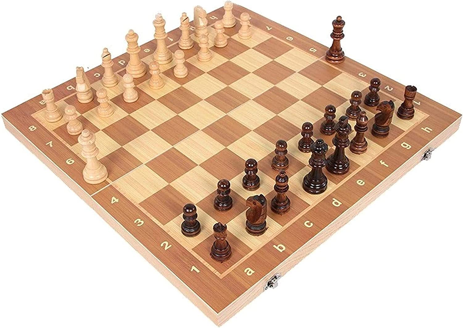Gorgeous MTCWD Wooden Chess Set 5 ☆ popular Magnetic Foldable Travel Magn Board