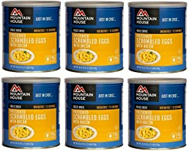 Mountain House Scrambled Eggs with Bacon #10 Can Freeze Dried Food - 6 Cans Per Case