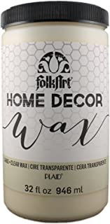 FolkArt 34883 Home Decor Chalk Furniture & Craft Paint in Assorted Colors, 32 ounce, Clear Wax