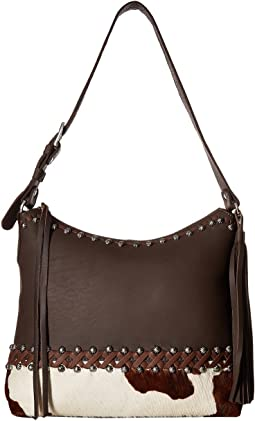 American West Wild Horses Zip Top Shoulder Bag