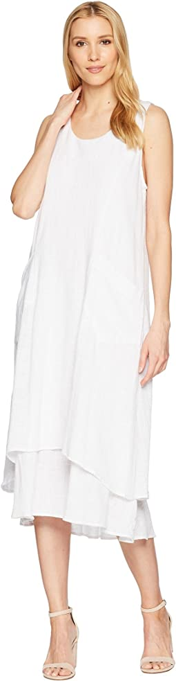 Gauze Double Layer Dress with Pockets