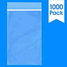 1000 Count - 3 X 5, 2 Mil Clear Plastic Reclosable Zip Poly Bags with Resealable Lock Seal Zipper by Spartan Industrial (More Sizes Available)