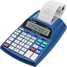 $39 » Printing Calculator with 12 Digit LCD Display Screen, 2.03 Lines/sec, Two Color Printing, Adding Machine for Accounting Us...