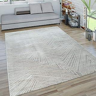 Dimension:60x100 cm TT Home Tapis Poils Ras Abordable Facile dentretien Aspect Bois Moderne Gris Blanc Chin/é